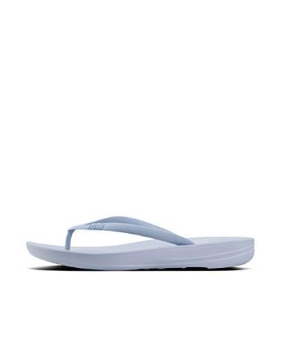 FitFlop iQushion K39 Womens Toe Post Sandals Powder Blue