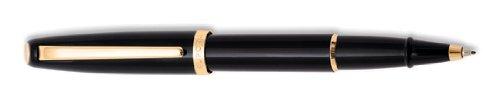 Aurora stile penna roller, colore: nero in resina e finiture dorate-e72dn