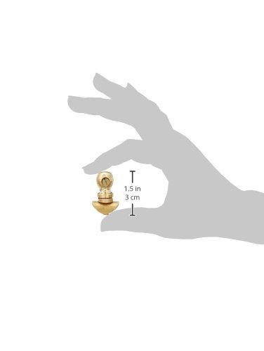 Royal Erado Mudguard Number Plate Fixing Pillar Clips (Set of 2, Brass)