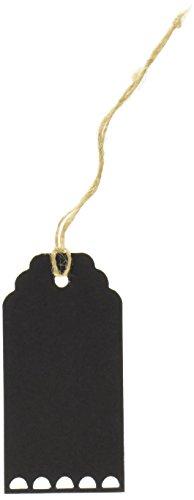 Ginger Ray Vintage Affäre Kreidetafel Gepäck/Geschenk Name Tags (10Stück) mit Bindfäden, schwarz
