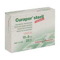 CURAPOR Wundverband transparent 10x8cm steril, 25 St Wasserdichte 8