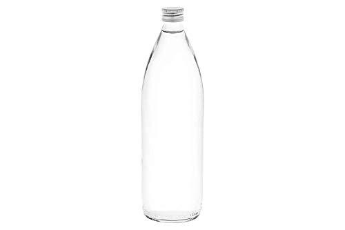 casa-vetro 6, 10, oder 20 Stück BOR-TR-1000 ml Flaschen Saftflaschen Likörflaschen Schnaps mit Schraubverschluss 1 Liter (6 Stück)