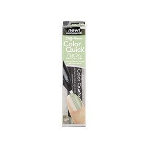 Sally Hansen Nail Color Pen, Fast Dry, Color Quick, Green Chrome 03 (2 Pack Value Bundle) by Sally Hansen -