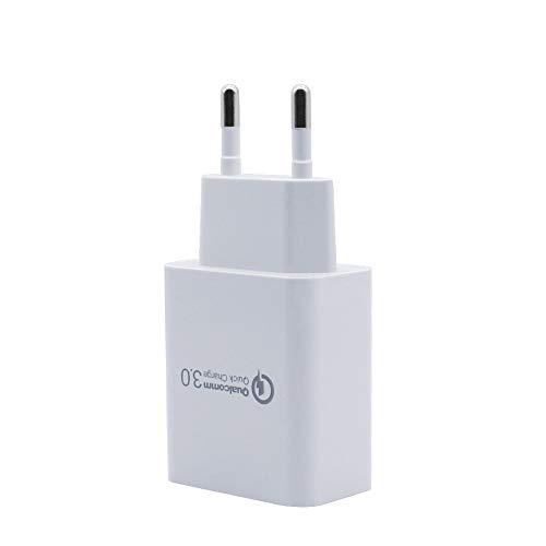 BERLS Quick Charge 3.0 5V 3A 18W Secteur USB Chargeur Rapide pour Samsung Galaxy S9 / S8 / Note 8, LG G5 / G6, Nexus 5X / 6P, HTC 10, iPad Pro/Air, Moto G4 etc Smartphone et Tablette