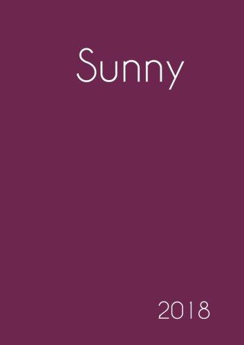 617e041066 2018  Namenskalender 2018 - Sunny - DIN A5 - eine Woche pro Doppelseite