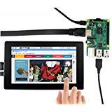 Waveshare 7inch HDMI LCD (H) (with case) 1024x600 Monitor IPS Capacitive Touch Screen Display with Toughened Glass Cover Supports Popular Mini PC Raspberry Pi BeagleBone Black Banana Pi from