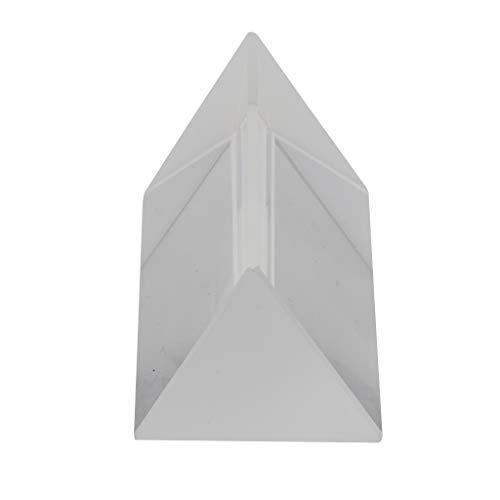 Homyl Prisme Triangulaire en Verre Optique pour l'enseignement Physique Spectre Lumière Et Photographie - 5x2.5cm