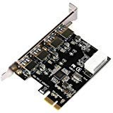 Mchoice PCI-E to USB 3.0 4-Port PCI Express Expansion Card Super Speed Up to 5Gbps with 4Pin Power Supply Interface