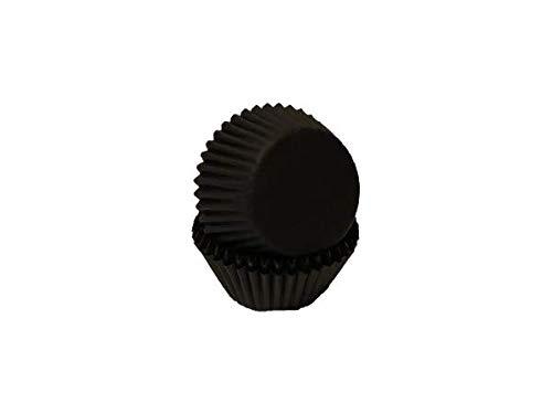 40 Mini Muffinförmchen, schwarz