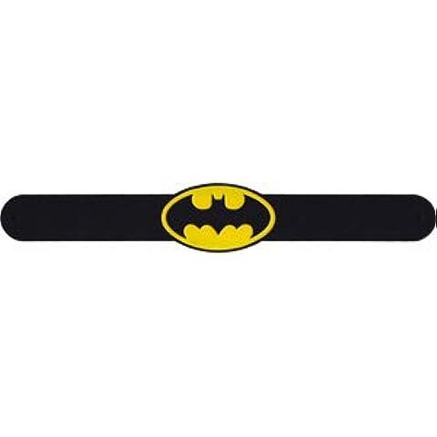 Pulsera–DC Comics–Batman Oval Logo slapbands slap-dc-0001