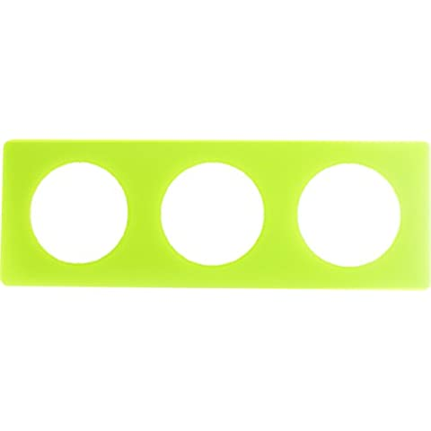 Legrand Celiane LEG99852 - Placca a 3 moduli, colore: Anice