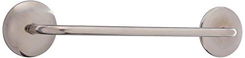 InterDesign AFFIXX, Bar-Form Selbstklebende Küchenhandtuchhalter - 33 cm, gebürstet (Gebürstetem Finish Bar Stahl)