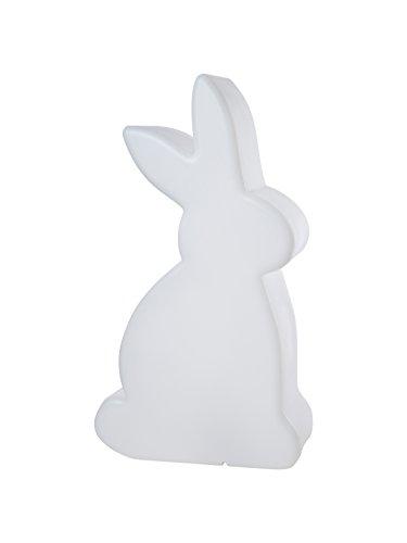 8 seasons design| Große Dekofigur Hase beleuchtet Shining Rabbit (E27, 70 cm groß, Hasenlampe, UV- & frostbeständig, Deko für drinnen & draußen) weiß