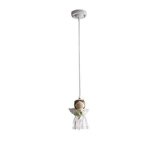 BAIF Kronleuchter Cherub Kinderzimmer Kronleuchter Weiche Einfache American Boy Girl Bar Restaurant Schlafzimmer Kronleuchter Lampe Beleuchtung (Größe: A) (Cherub Anhänger)