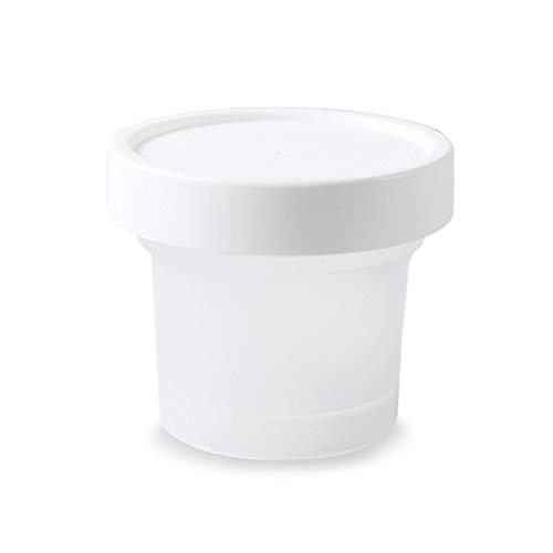 OBR KING 12Kunststoff EIS Tasse mit Deckel wiederverwendbar Cup für Snack und Desserts (100ml)