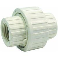 B and K 164-134 PVC Schedule 80 Threaded Union, 3/4 by B and K -