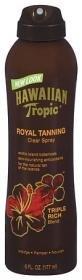 Hawaiian Tropic Spray solaire imperceptible Royal Tanning - Triple mélange riche - Extraits de plantes des îles exotiques - 177 ml