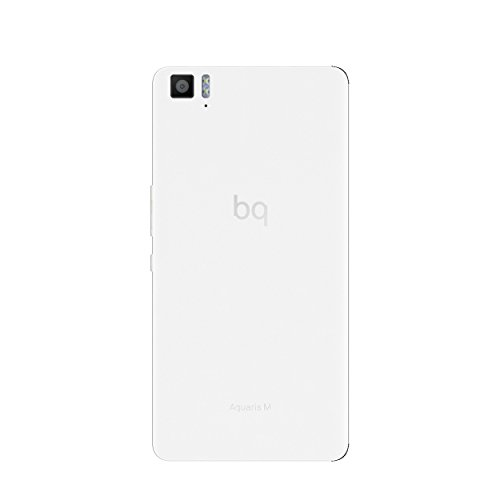 BQ Aquaris M 2017 - Smartphone de 5.5'' (4G, WiFi, Bluetooth 4.1, Qualcomm Snapdragon 615 Octa Core A53, 32 GB de memoria interna, 3 GB de RAM, cámara de 13 MP, Android 6.0.1 Marshmallow), blanco