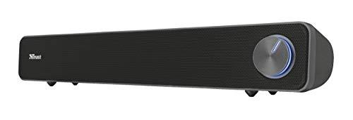 Trust Arys Enceinte PC Barre de Son pour Ordinateur et TV, 12 Watt, Alimentation USB
