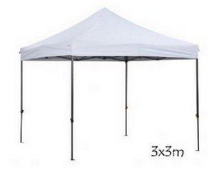 Carpa plegable 3x 3m plegable a Acordeón Feria Pérgola oferta, bianco