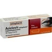Aciclovir-ratiopharm Lippenherpescreme, 2 g