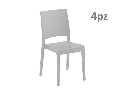 55 x 46 cm Modello Selene ARETA ARE051 Sedia Senza Braccioli Bianco