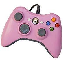 pomemall USB Wired (5ft) Game Pad Controller für Xbox 360, Windows 7(X86), Windows 8(X86) Rosa Rose (Rosa Für Xbox 360 Konsole)