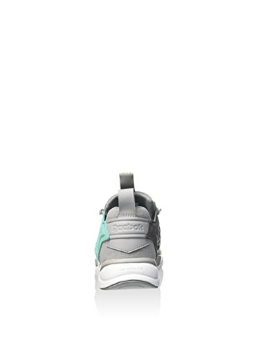 Reebok Furylite Asymmetrical Scarpa Sportiva, Donna Multicolore (Gris / Verde / Blanco (Tin Grey/Emerald Sea/Shark/White))