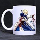 Fate Stay Night Saber Sword 11 OZ White Mug 100% Ceramic Coffee/Tea White Cup
