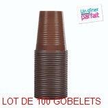 4 LOTS DE 25 GOBELETS CHOCOLAT 20 CL [Cuisine]