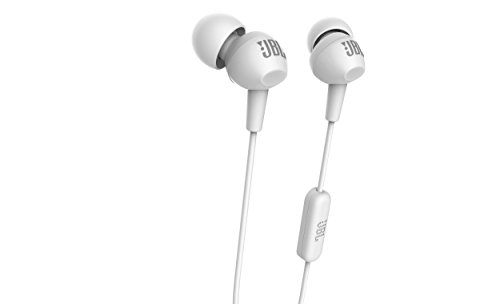 JBL C100SI In-Ear Headphones with Mic (White)