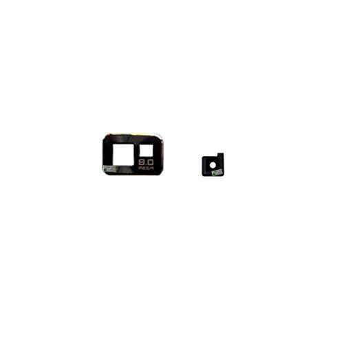 FONFON Kamera Glas Linse Abdeckung Camera Scheibe Glass Gehäuse Lens für Samsung Galaxy S2 i9100 Schwarz - S2 Glas-linse Galaxy