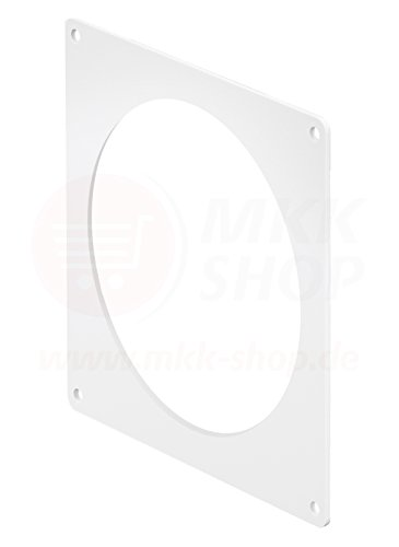 MKK Wandflansch Montageplatte Ø 125 mm Kunststoff Lüftungsrohr Rundkanal Rohr PVC Kanal Wand - Kunststoff-kanal
