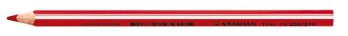 Stabilo trio maxi matita colorata colore rosso - confezione da 12