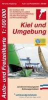 Auto- und Freizeitkarte Kiel und Umgebung 1 : 100 000: Der Großraum Kiel von Schleswig bis Lübeck und von Itzehoe bis Oldenburg - mit allen Fernradwegen und Fernwanderwegen
