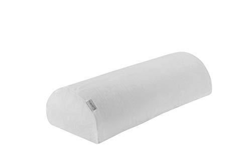 Dormisette Q991 Kniehalbrolle für Rückenschläfer, atmungsaktiv, 50 cm x 20 cm x 12 cm, weiss Knierolle -