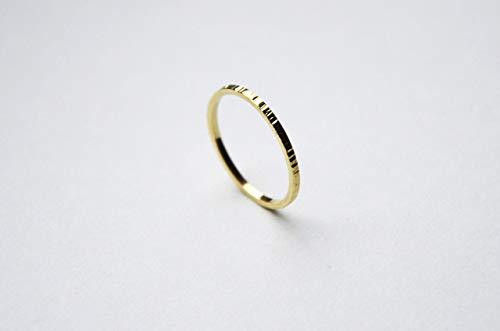 Minimalist Goldring für Frauen, gehämmert. Simpler Goldring, Goldschmuck, 18k Gold | Stapelring, Bandring, Damen Stapelring, dünn