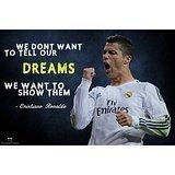 Printelligent Ronaldo Football Poster. P...