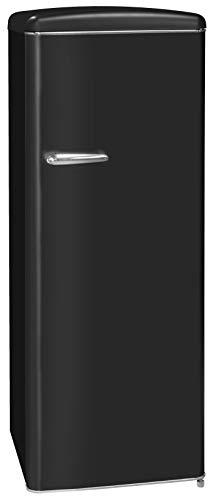 Exquisit RKS 325-16 RVA++MS Retro-Kühlschrank/EEK: A++/229 Liter/Retro-Handgriff/LED-Innenbeleuchtung/Schwarz