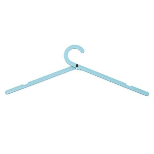 Milopon Lot de 5 cintres Suspendus Magie Crochet Double vêtements Pliage Rack Coat Organiseur Closet 5 pièces 24,8 x 6 cm Bleu