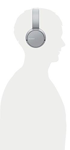 Sony WH-CH500 kabelloser Bluetooth Kopfhörer (Bis zu 20 Stunden Akkulaufzeit, Freisprechfunktion, NFC, schwenkbares Design) grau - 4