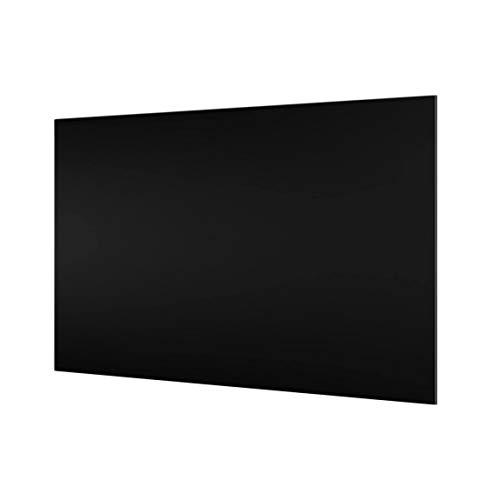 Spritzschutz aus Glas, 800 x 400 x 4 mm, Farbe: schwarz