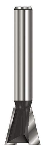 ENT 15989 Gratfräser HW (HM), Schaft (C) 8 mm, Durchmesser (A) 22 mm, B 22 mm, E 15°, D 32 mm, ohne Vorschneider