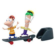 Disney Phineas and Ferb Mini Figure 2Pack Phineas Ferb Skateboard Launcher