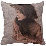 Portrait Of Mrs Newton Throw Pillow Case