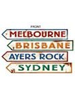 Outback Rock Weekend Critter Crossing Sign découpes 4pk, Papier, multicolore, 1 pièce