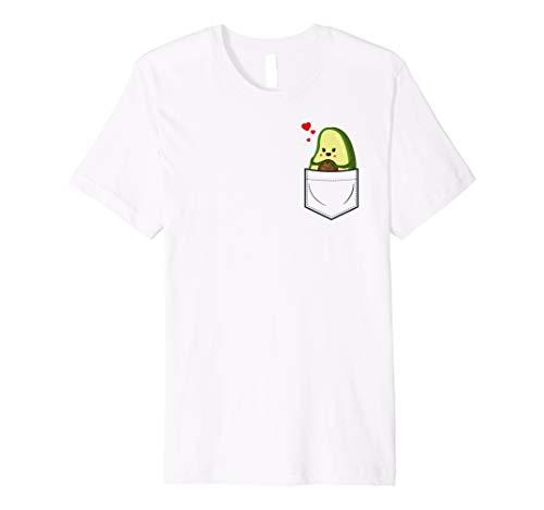 Avocado T-Shirt Avocado in Brusttasche Veganer Shirt Frauen