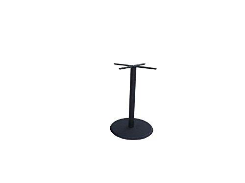 Tischgestell Aluminium mit rundem Fuß aus Polystone schwarz