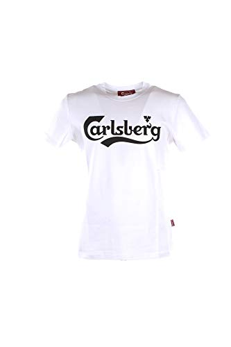 Carlsberg T-Shirt Uomo Bianco Cbu3501 Primavera Estate 2019