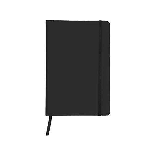 Projects Notizbuch \'Business\' DIN A5 - liniertes umweltfreundliches 80 g/m2 FSC-Papier 192 Seiten, Hardcover mit Softtouch-Bezug aus PU & Lesezeichen & Verschlussband - vielseitig verwendbar (schwarz)